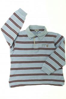 vêtements d occasion enfants Polo rayé manches longues Cyrillus 8 ans Cyrillus