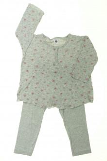 vetement d occasion enfant Pyjama en coton fleuri Petit Bateau 3 ans Petit Bateau
