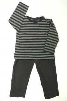 vêtements occasion enfants Pyjama rayé en coton CFK 4 ans CFK