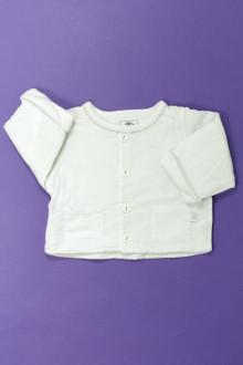 vêtements bébés Gilet doublé Petit Bateau 1 mois Petit Bateau