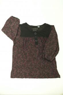 vêtements occasion enfants Tee-shirt fleuri Okaïdi 10 ans Okaïdi