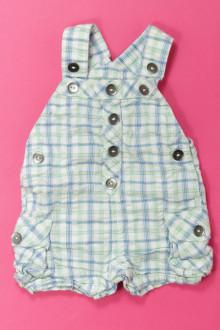vêtements bébés Salopette courte à carreaux Grain de Blé 1 mois Grain de Blé