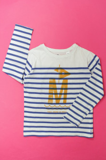 vetement d'occasion enfants Tee-shirt manches longues rayé Okaïdi 6 ans Okaïdi