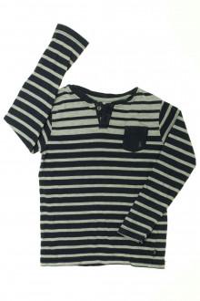 vetements enfants d occasion Tee-shirt manches longues rayé Okaïdi 4 ans Okaïdi