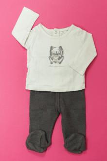Habits pour bébé occasion Ensemble tee-shirt et pantalon à pieds Orchestra 1 mois Orchestra