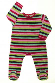 vetements d occasion bébé Pyjama/Dors-bien en velours rayé DPAM 18 mois DPAM