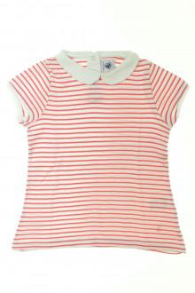 vetement occasion enfants Tee-shirt manches courtes rayé Petit Bateau 5 ans Petit Bateau