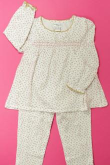 vetement occasion enfants Pyjama en coton fleuri Cyrillus 4 ans Cyrillus