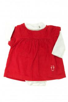 habits bébé occasion Ensemble robe et body Obaïbi 1 mois Obaïbi