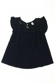 vetements enfants d occasion Tee-shirt manches courtes crocheté Okaïdi 6 ans Okaïdi