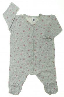 Habit d'occasion pour bébé Pyjama/Dors-bien en coton fleuri Petit Bateau 6 mois Petit Bateau