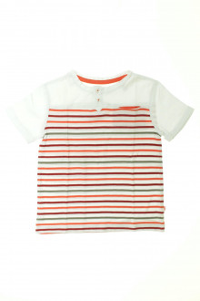 vêtements enfants occasion Tee-shirt manches courtes rayé Okaïdi 4 ans Okaïdi