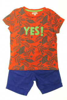 vetements enfants d occasion Ensemble short et tee-shirt DPAM 5 ans DPAM