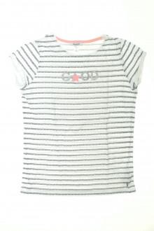 vetements enfants d occasion Tee-shirt manches courtes rayé - 14 ans Okaïdi 12 ans Okaïdi