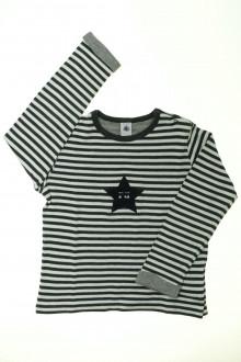 vetements enfants d occasion Tee-shirt manches longues rayé Petit Bateau 8 ans Petit Bateau