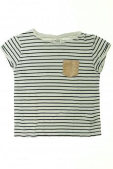 vetement occasion enfants Tee-shirt manches courtes rayé Tape à l'Œil 6 ans Tape à l'œil