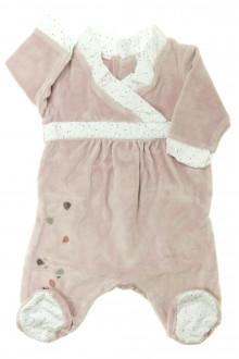 Habit d'occasion pour bébé Pyjama/Dors-bien en velours Obaïbi 1 mois Obaïbi