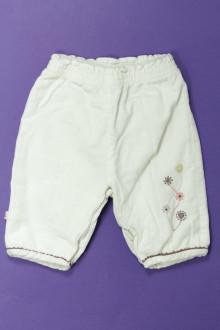 Habits pour bébé occasion Pantalon en velours fin Obaïbi 1 mois Obaïbi