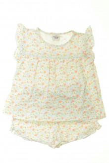 vetement enfant occasion Pyjama court fleuri Tape à l'Œil 3 ans Tape à l'œil