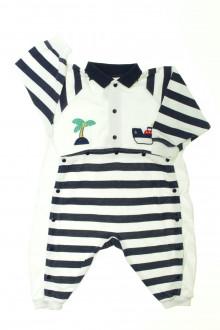 Habit de bébé d'occasion Pyjama/Dors-bien en coton sans pieds Absorba 12 mois Absorba
