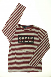 vetement enfants occasion Tee-shirt manches longues rayé YCC214 10 ans YCC214