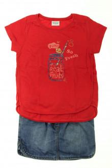 vetement occasion enfants Ensemble tee-shirt et jupe Tape à l'Œil 4 ans Tape à l'œil