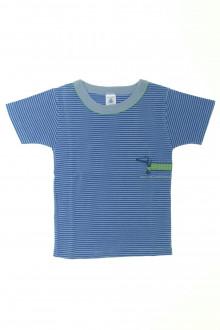 vêtements occasion enfants Tee-shirt manches courtes milleraies Petit Bateau 4 ans Petit Bateau