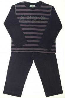 vetement d occasion enfant Pyjama rayé en coton DPAM 6 ans DPAM