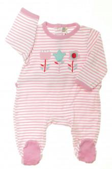 vetement bébé d occasion Pyjama/Dors-bien rayé en coton