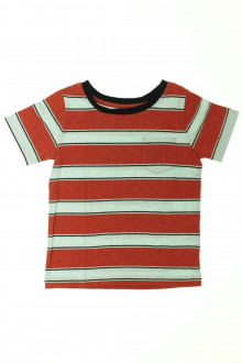 vetements d occasion enfant Tee-shirt manches courtes à rayures Monoprix 4 ans Monoprix