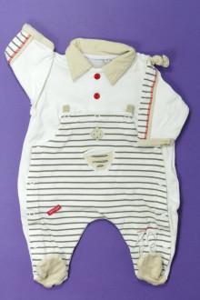 Habits pour bébé Pyjama/Dors-bien rayé en coton Berlingot Naissance Berlingot