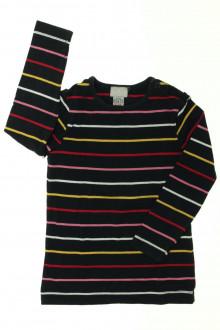 vetement  occasion Tee-shirt manches longues rayé Cyrillus 3 ans Cyrillus
