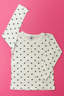 vetement occasion enfants Tee-shirt manches longues à pois Petit Bateau 4 ans Petit Bateau