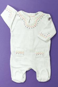 vêtements bébés Pyjama/Dors-bien en velours brodé DPAM 1 mois DPAM