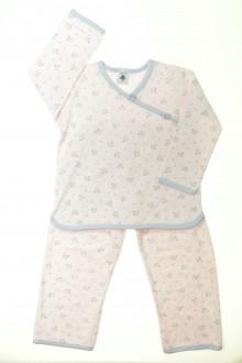 vêtement enfant occasion Pyjama en velours fleuri Petit Bateau 4 ans Petit Bateau
