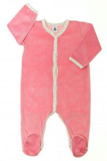 habits bébé occasion Pyjama/Dors-bien en velours Petit Bateau 12 mois Petit Bateau