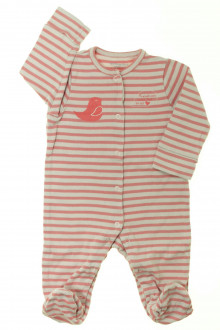 Habits pour bébé Pyjama/Dors-bien rayé en coton Vertbaudet 6 mois Vertbaudet