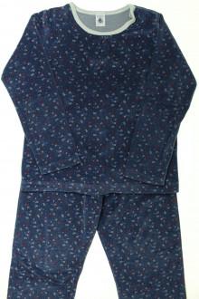 vetements enfants d occasion Pyjama en velours fleuri Petit Bateau 8 ans Petit Bateau