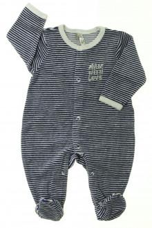 vetement bébé d occasion Pyjama/Dors-bien en velours rayé Orchestra 3 mois Orchestra