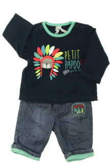 vetements d occasion bébé Ensemble jean et tee-shirt Orchestra 1 mois Orchestra