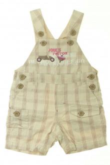 Habits pour bébé Salopette courte à carreaux Marèse 6 mois Marèse