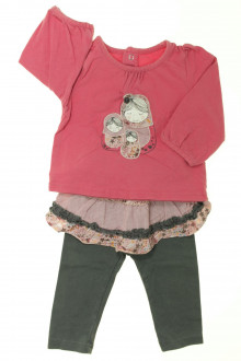 Habits pour bébé Ensemble tee-shirt et legging/jupette Vertbaudet 6 mois Vertbaudet