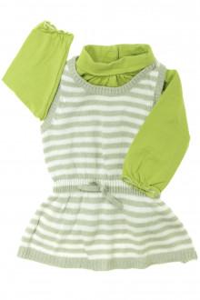vêtements bébés Ensemble robe et sous-pull Vertbaudet 6 mois Vertbaudet