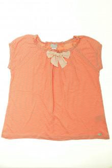 vetements enfant occasion Tee-shirt manches courtes milleraies Cyrillus 12 ans Cyrillus
