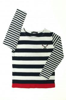 vetement occasion enfants Tee-shirt rayé manches longues Week-end à la mer 6 ans Week-end à la mer