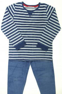 vetement  occasion Pyjama rayé en velours Monoprix 6 ans Monoprix