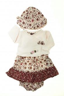 Habits pour bébé Ensemble robe, gilet et chapeau Sergent Major 6 mois Sergent Major