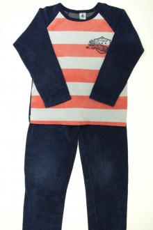 vetement occasion enfants Pyjama bi-matière à rayures Petit Bateau 8 ans Petit Bateau