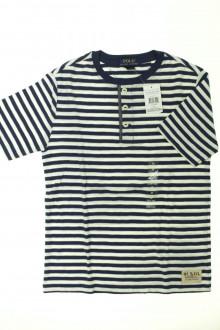 vetements enfant occasion Tee-shirt rayé manches courtes Ralph Lauren 12 ans Ralph Lauren