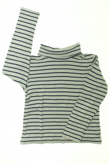 vêtements occasion enfants Sous-pull rayé Okaïdi 10 ans Okaïdi